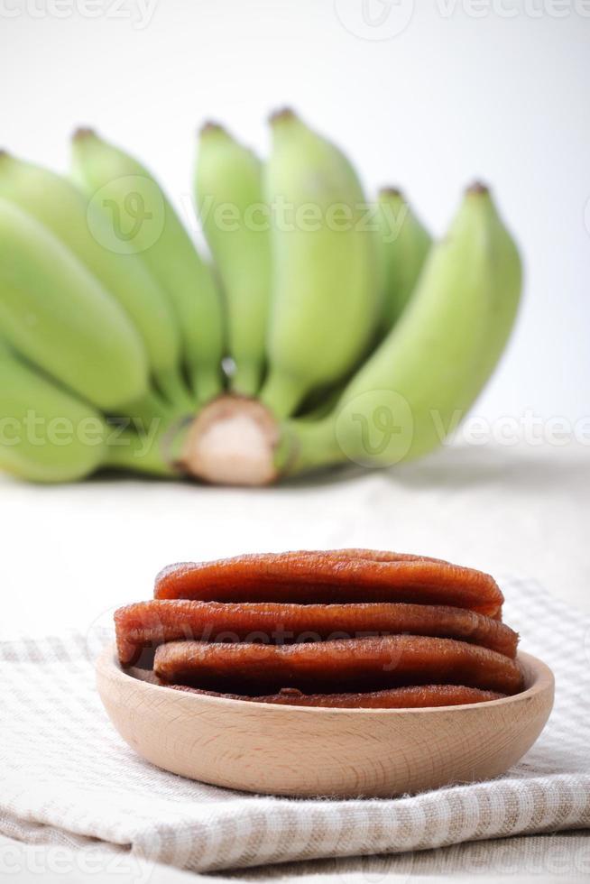 torkad banan foto