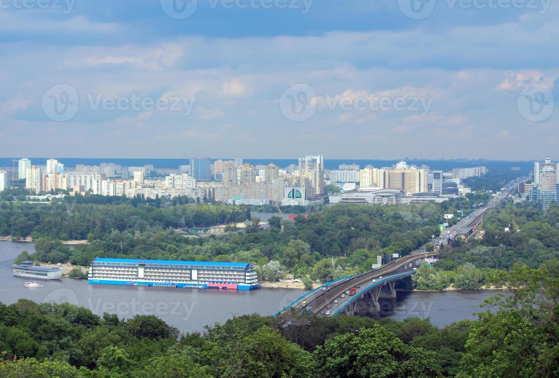 Flygfoto över Kiev, Ukraina foto