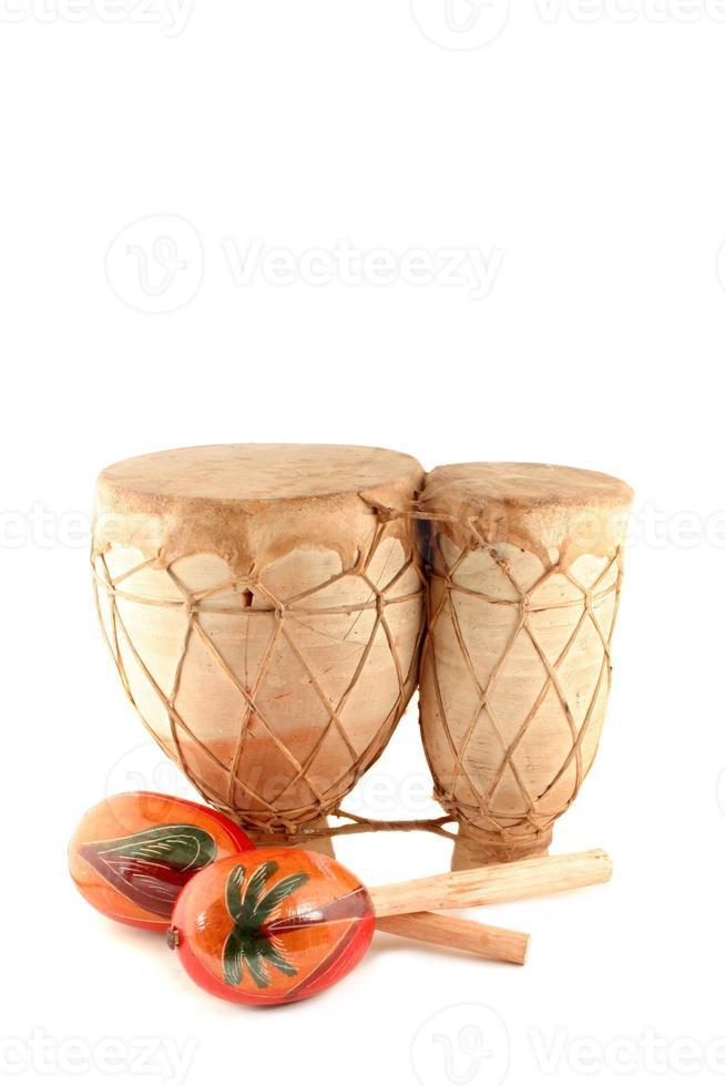 maracas och trumma foto