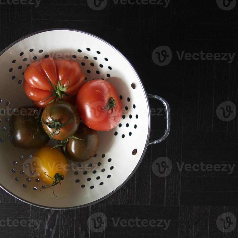 olika tomater foto