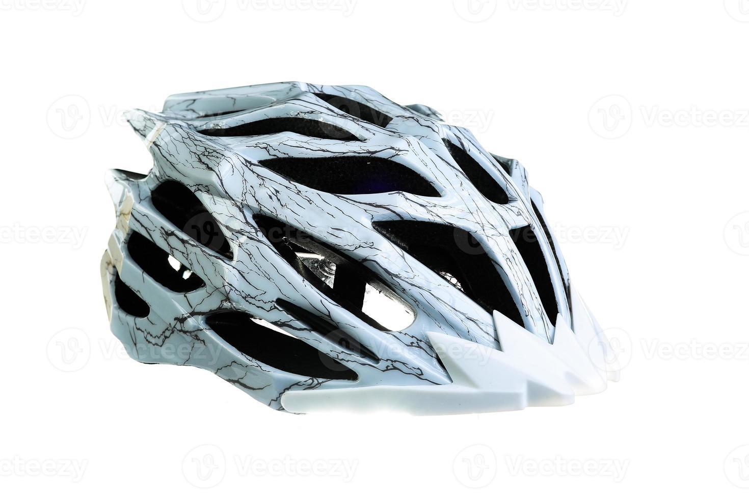 mountainbike hjälm, isolerad på vit bakgrund foto