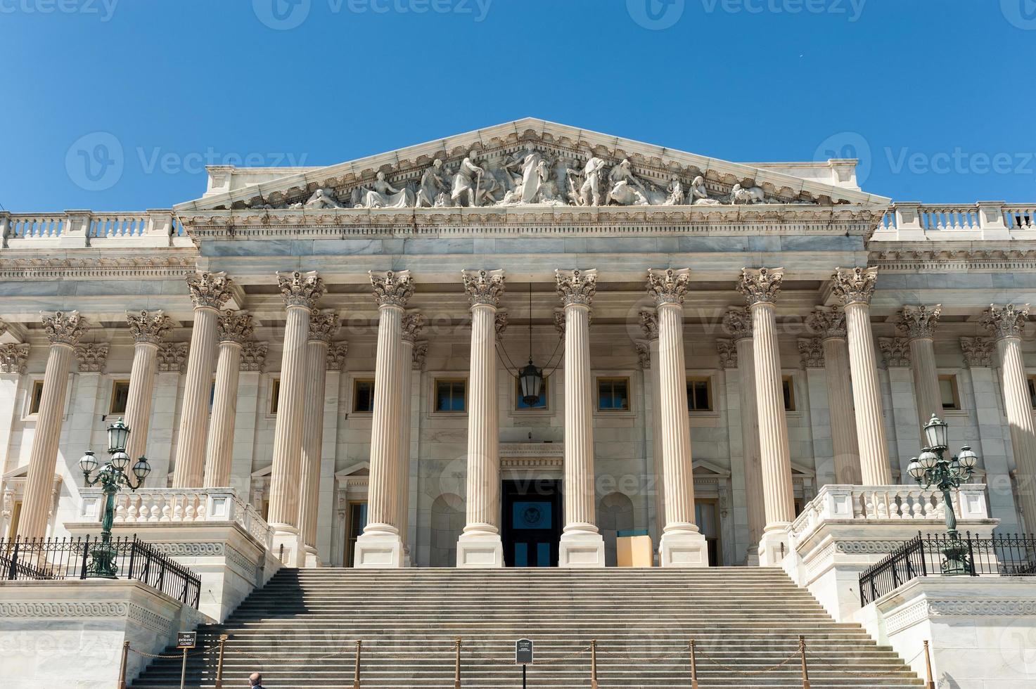 USA: s huvudstadsbyggnad, östra delen i dagsljus foto