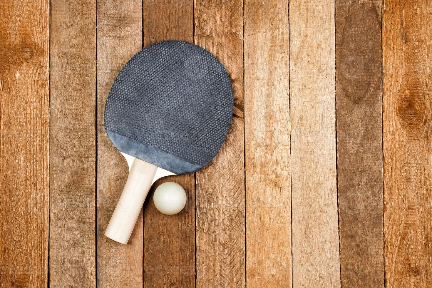 vintage ping pong paddel foto