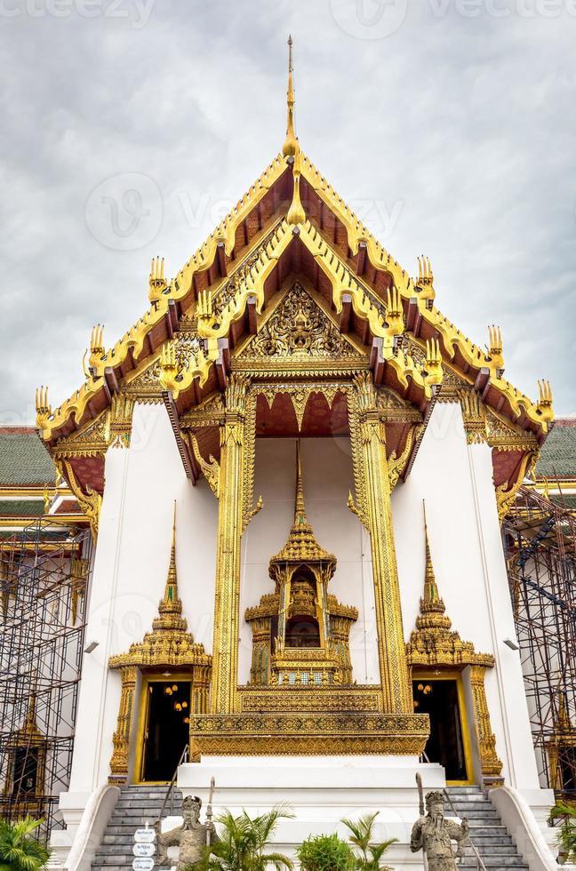 dusit maha prasat tron hall, smaragd buddha tempel foto