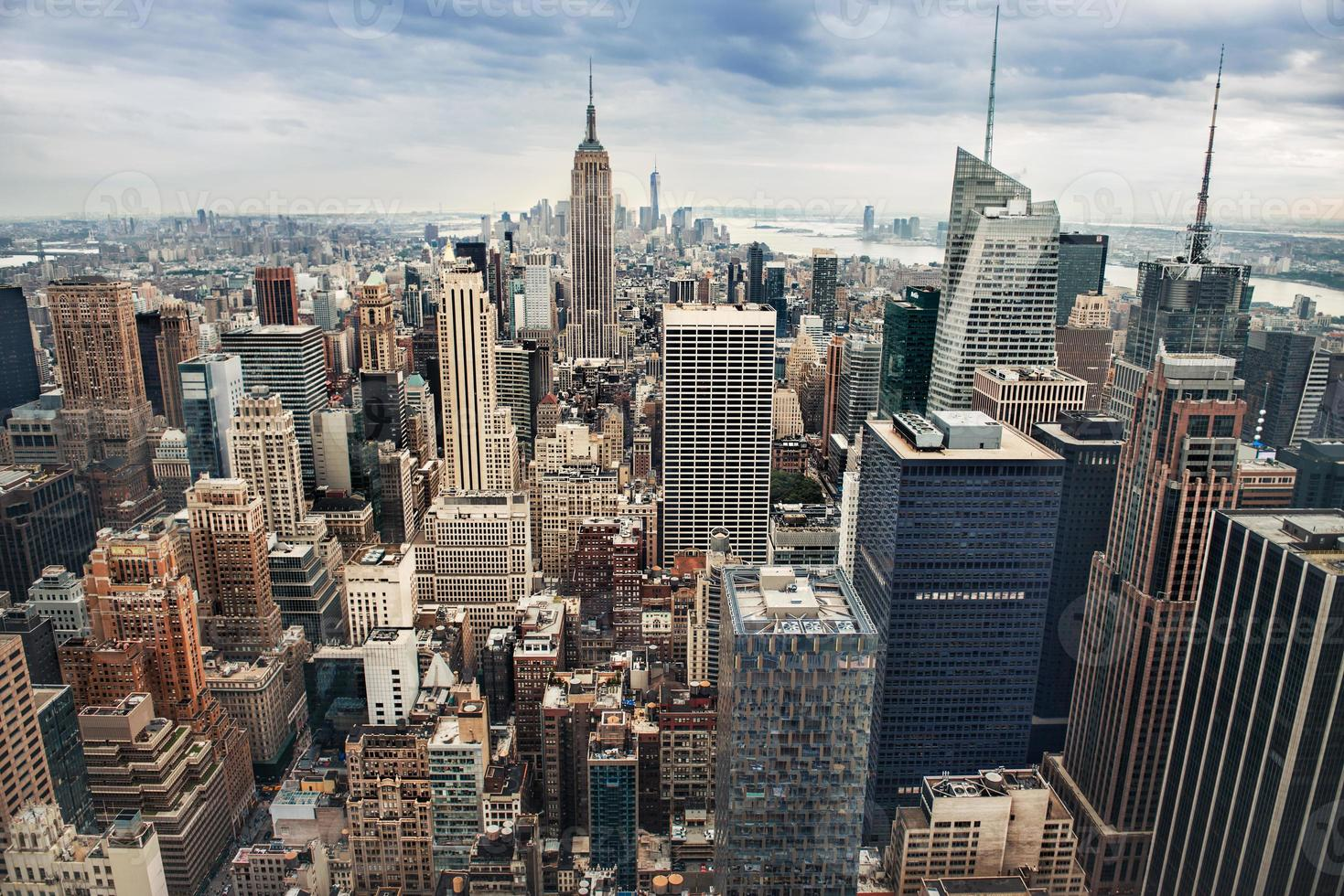 new york city manhattant midtown panorama foto