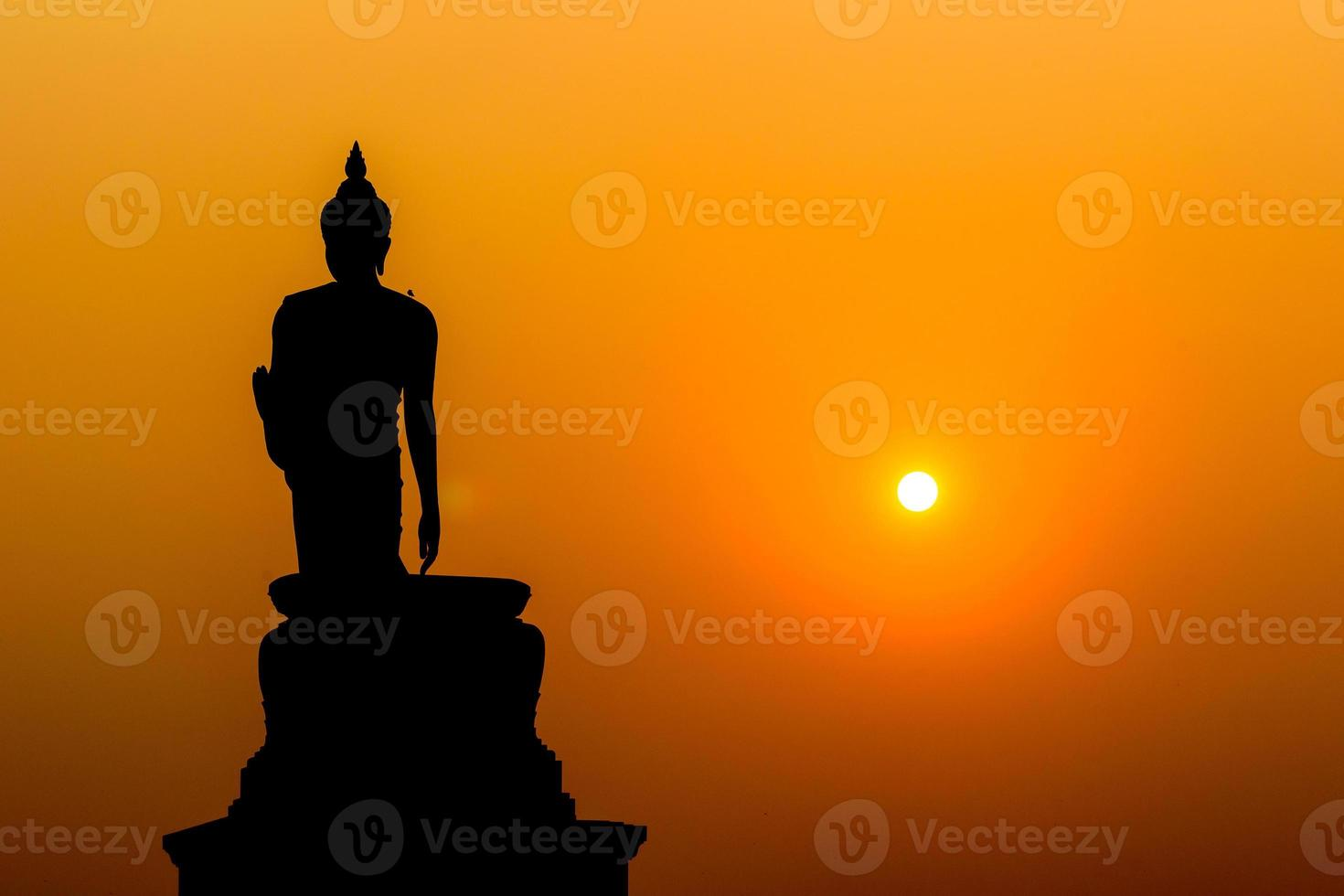 silhuett buddha foto
