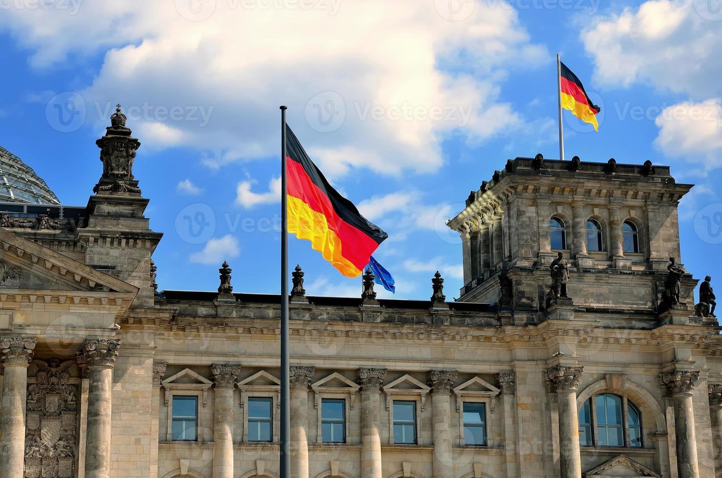 riksdagen byggnad i Berlin, Tyskland. foto