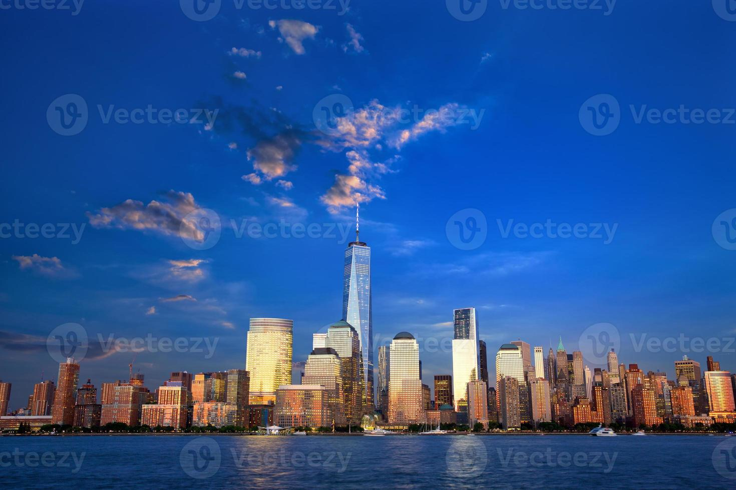 nedre manhattan skyline foto