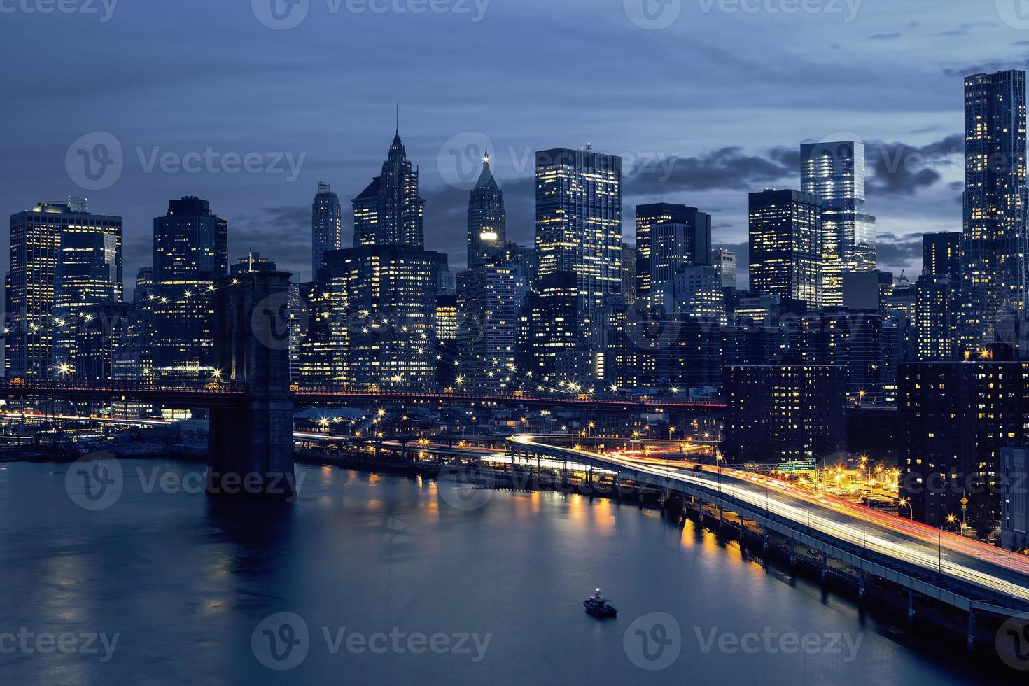 horisont av centrala New York foto