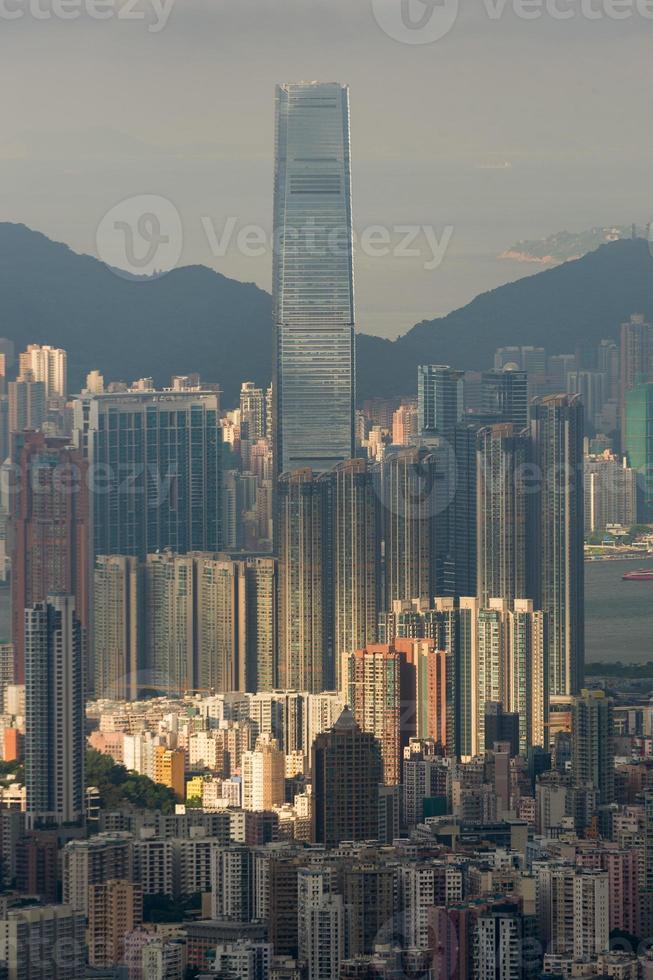 sky100 byggnad hongkong foto