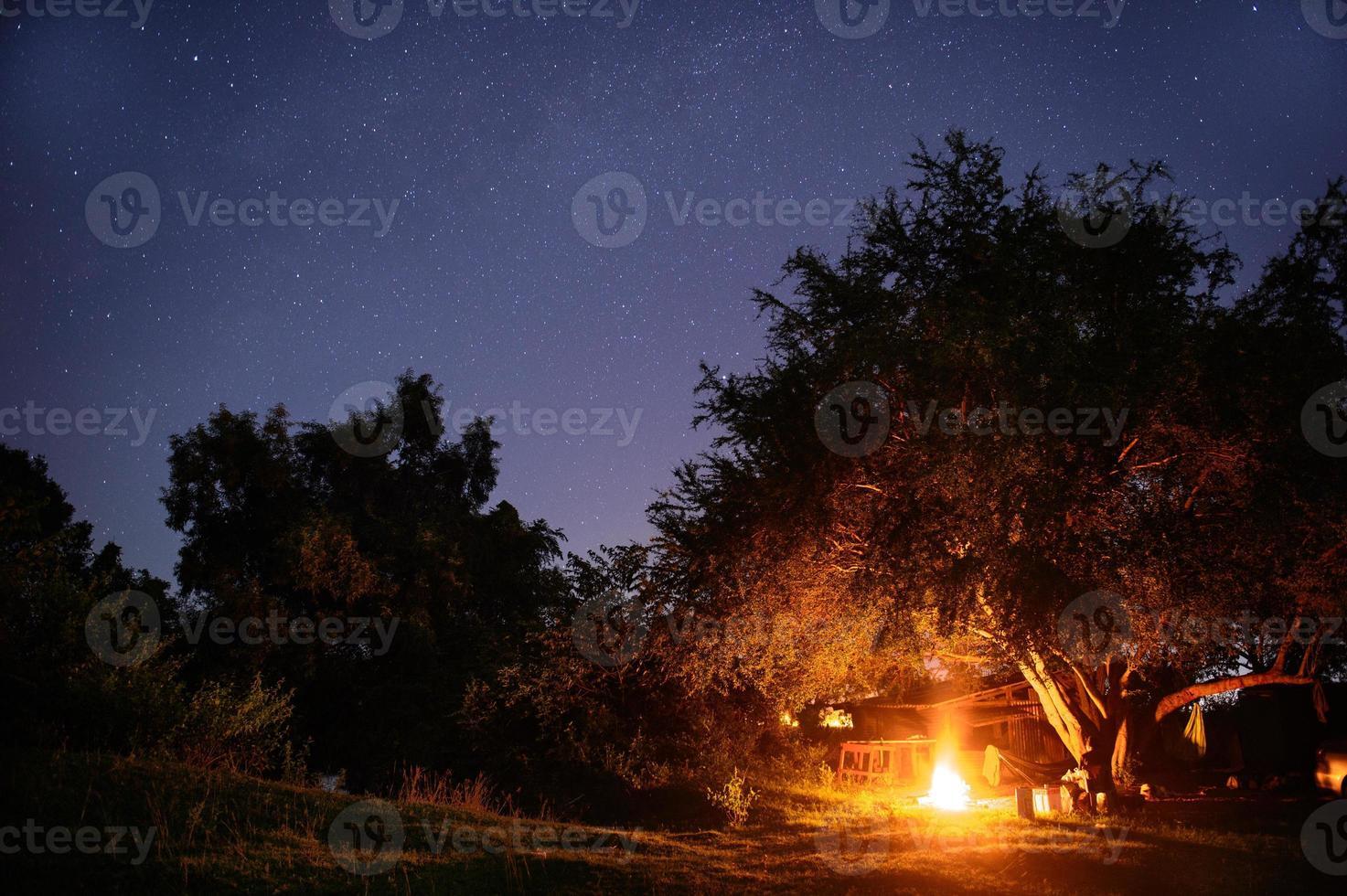 campingplats med startrail foto