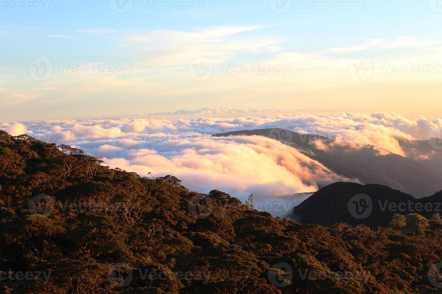 hav av moln foto