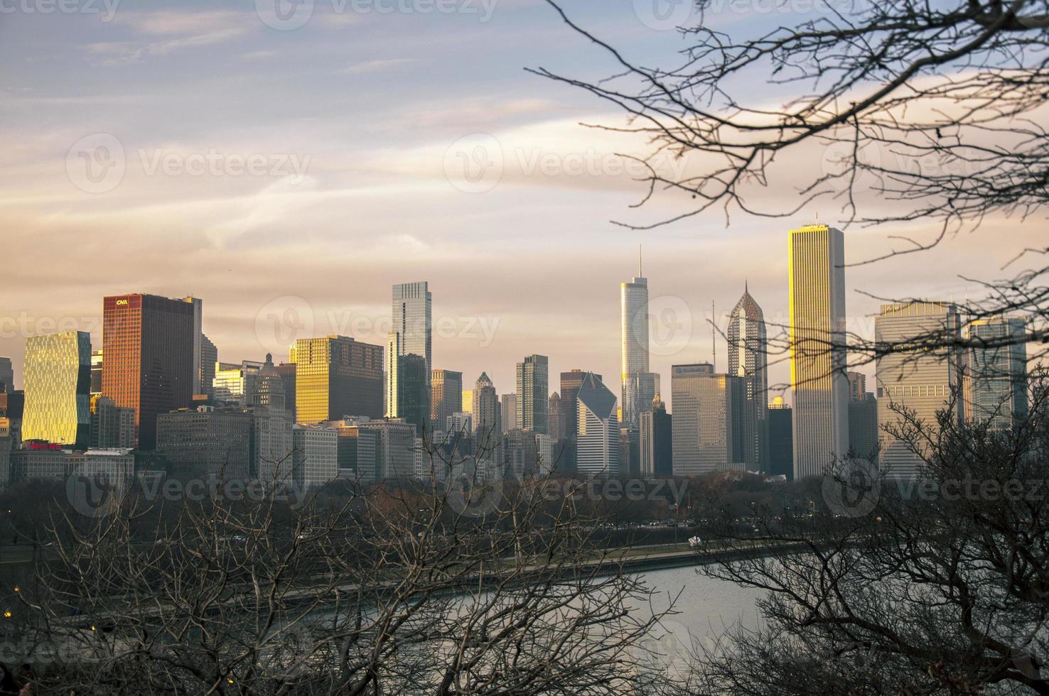 chicago skyskrapor foto