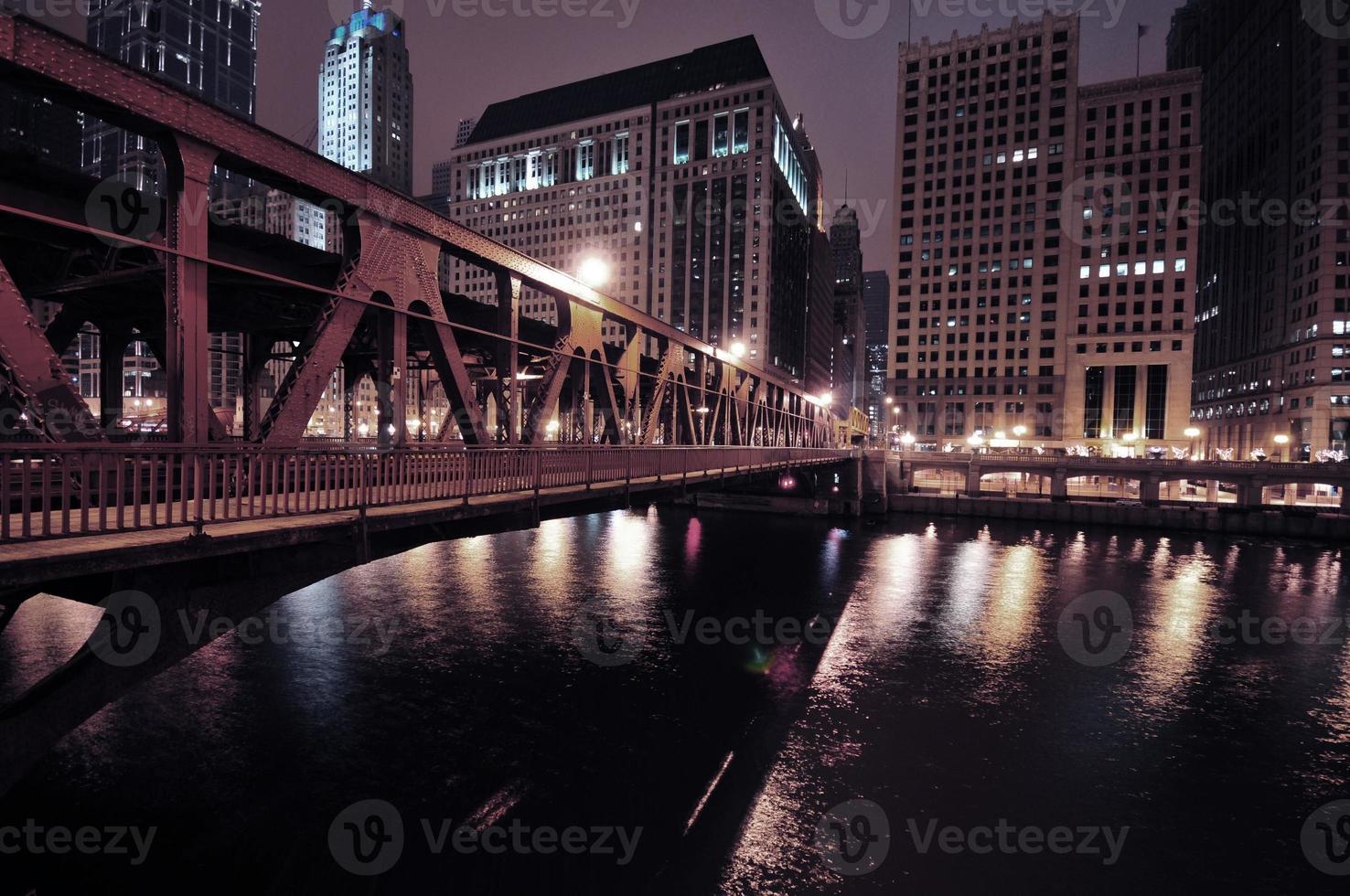 flodpromenad i Chicago foto
