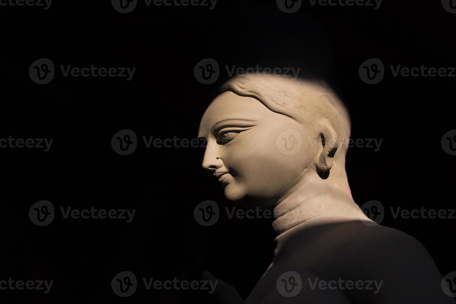 indisk gudom - laxmi som åtföljer gudinnan durga foto