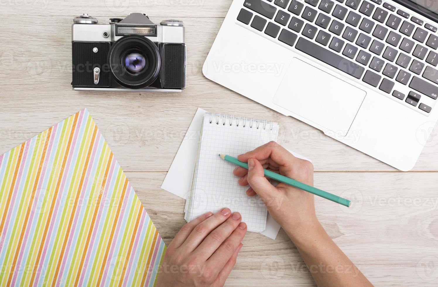 kreativ arbetsplats foto