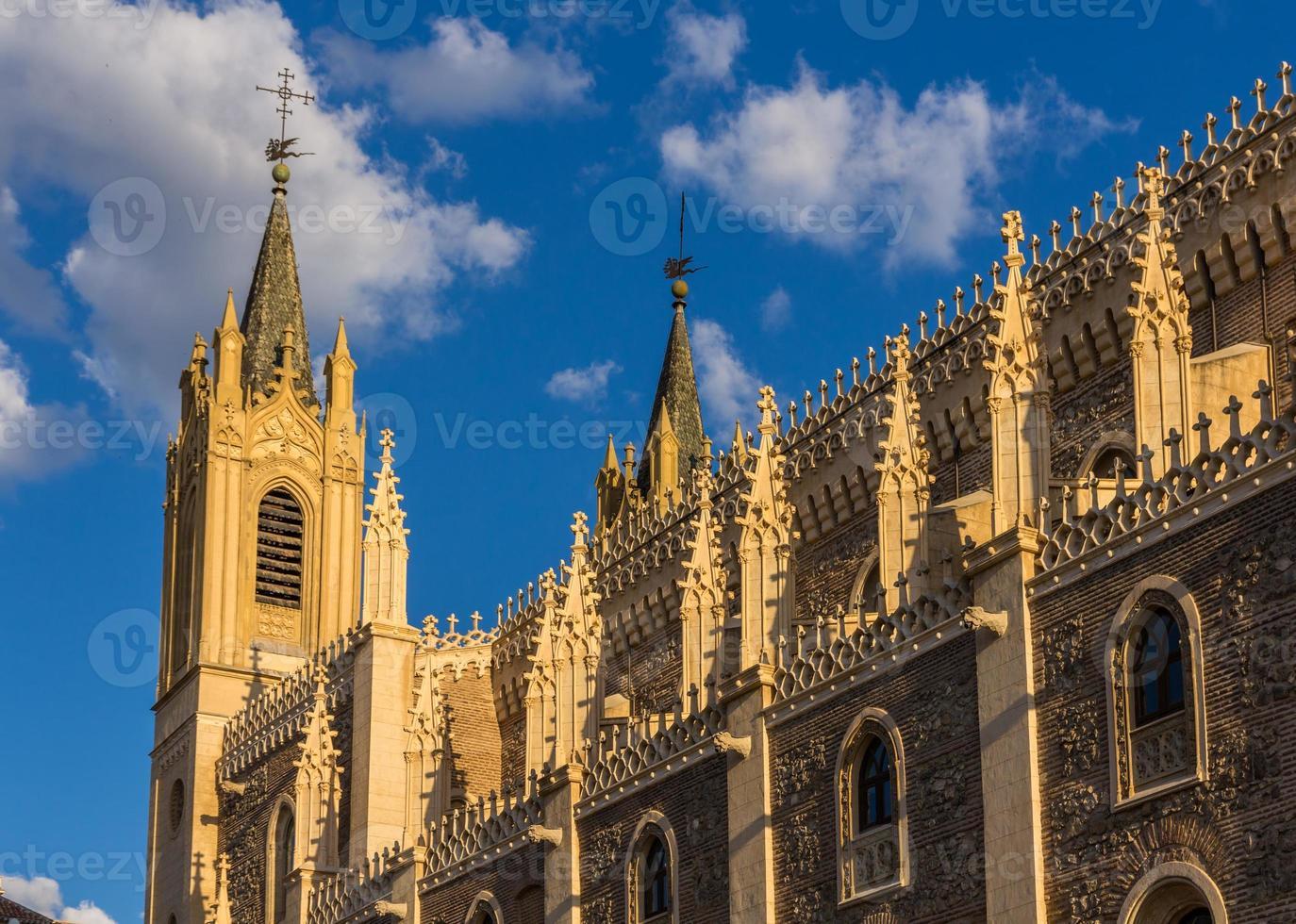 kyrka san jeronimo el realo i madrid, spanien foto