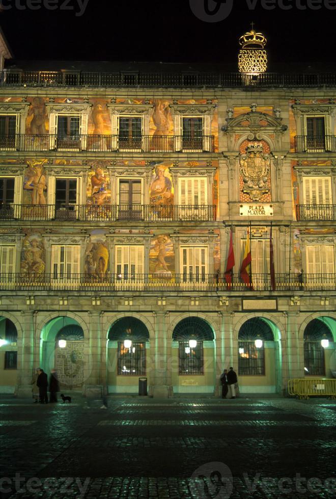 plaza borgmästare, natt foto
