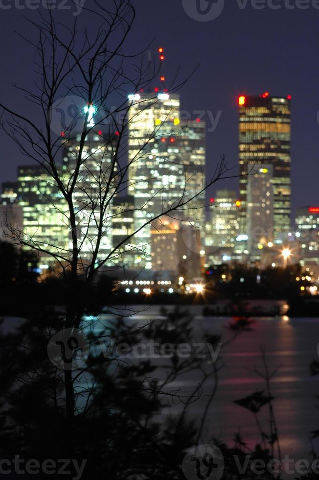 natt i staden foto