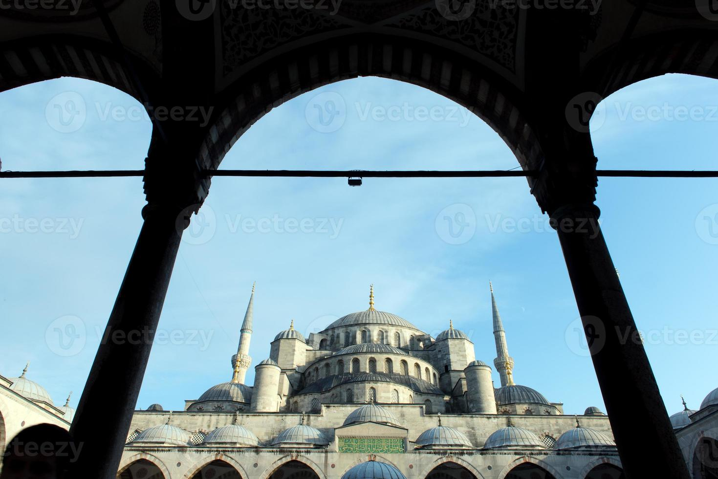 blå moskén istanbul foto