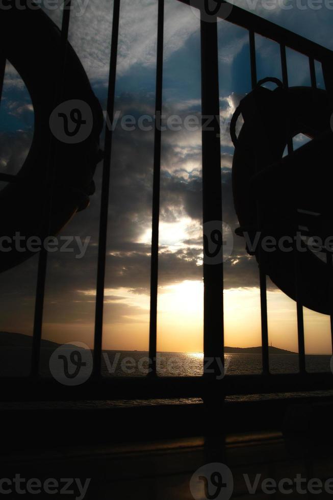 solnedgång båt 1 foto