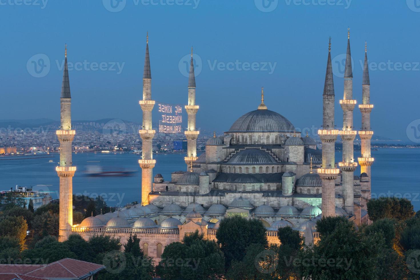den blå moskén foto