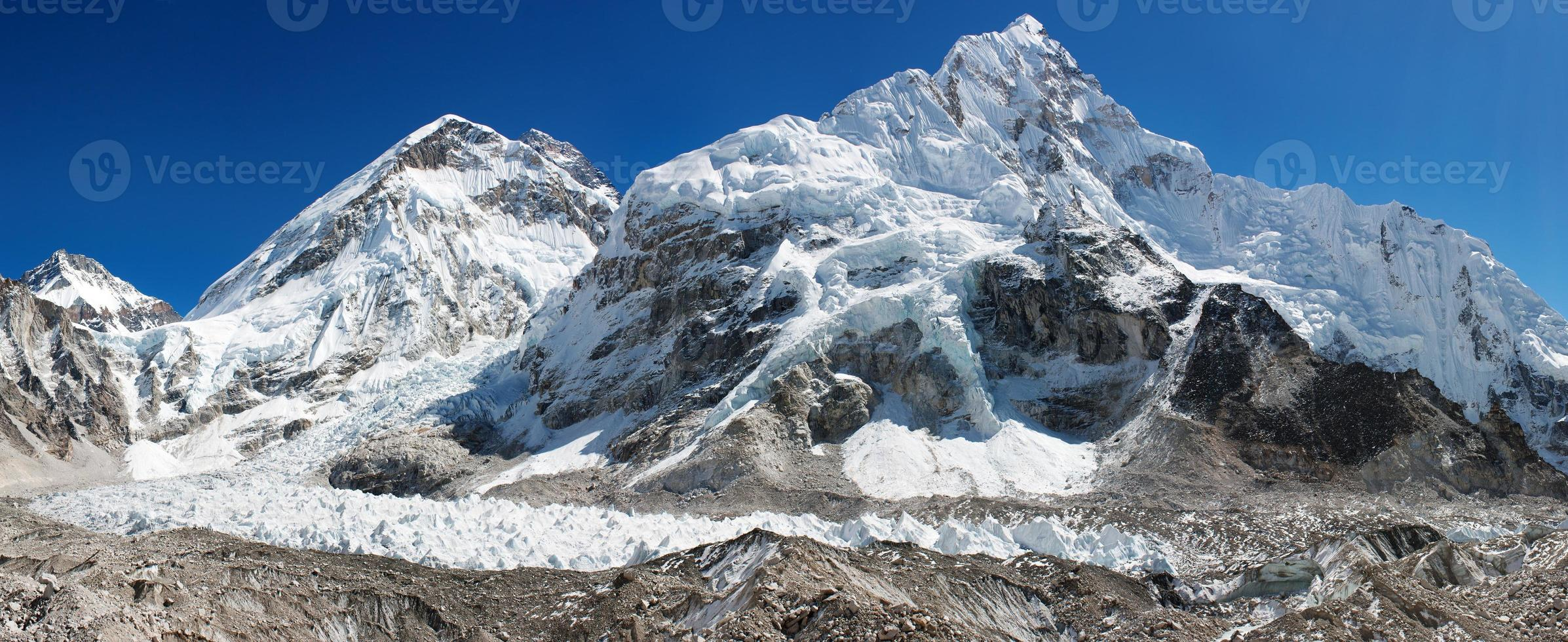 panoramautsikt över Everest foto