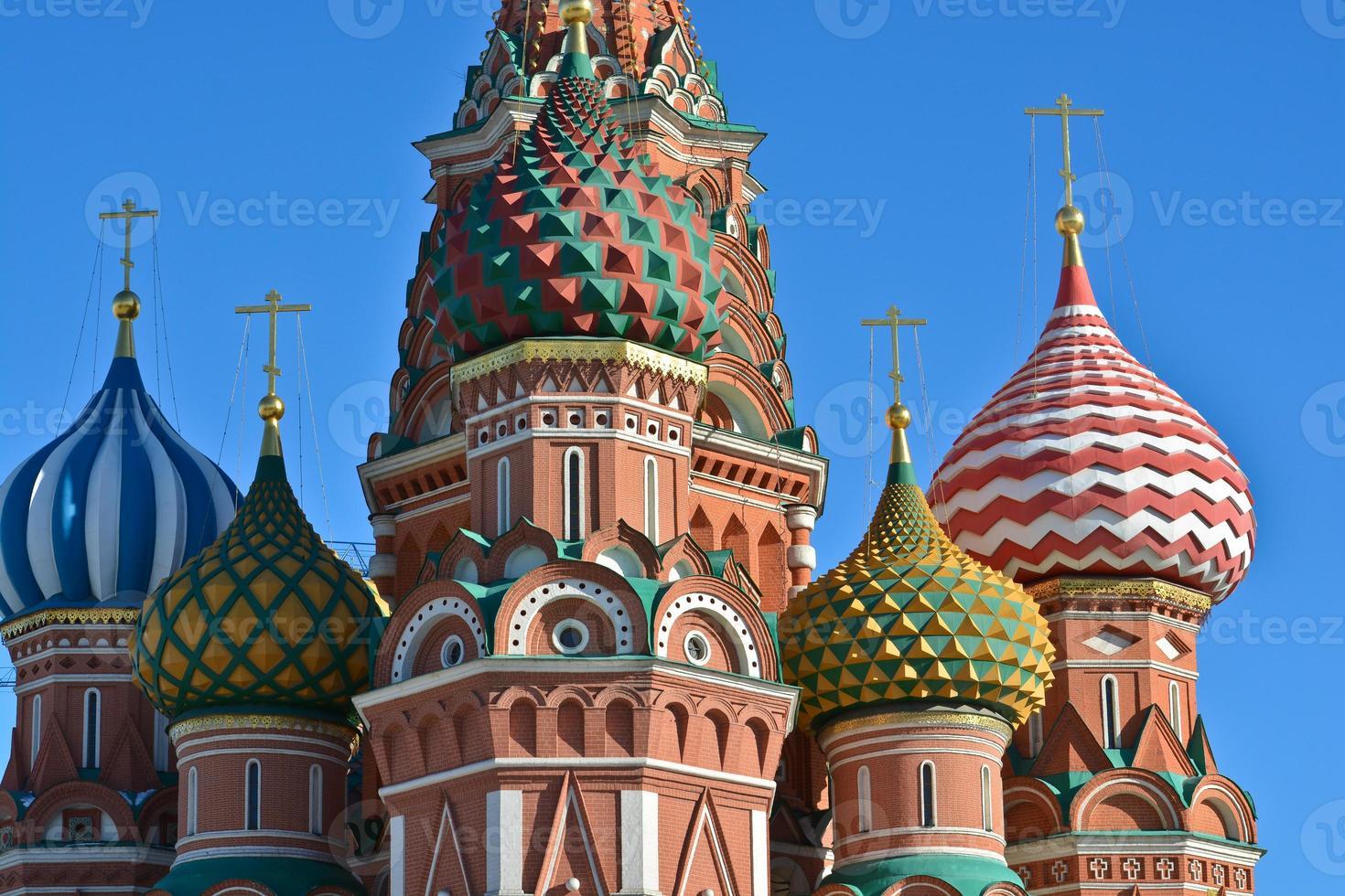 Moskva, katedralen i helgonbasilien. foto