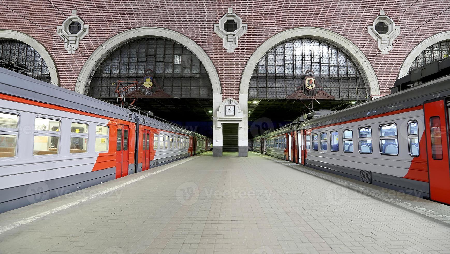 kazansky järnvägsterminal (kazansky vokzal) - Moskva, Ryssland. foto