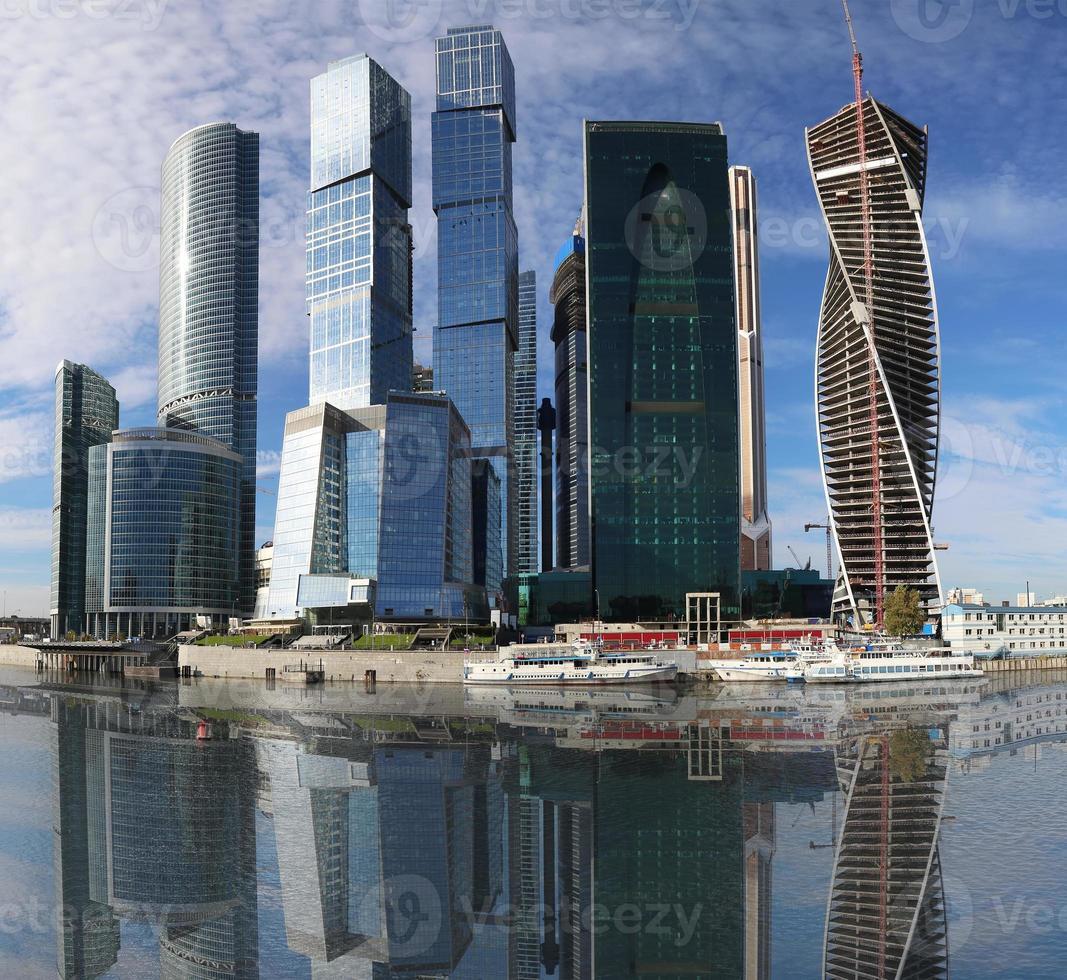 skyskrapor från det internationella affärscentret (stad), Moskva, Ryssland foto