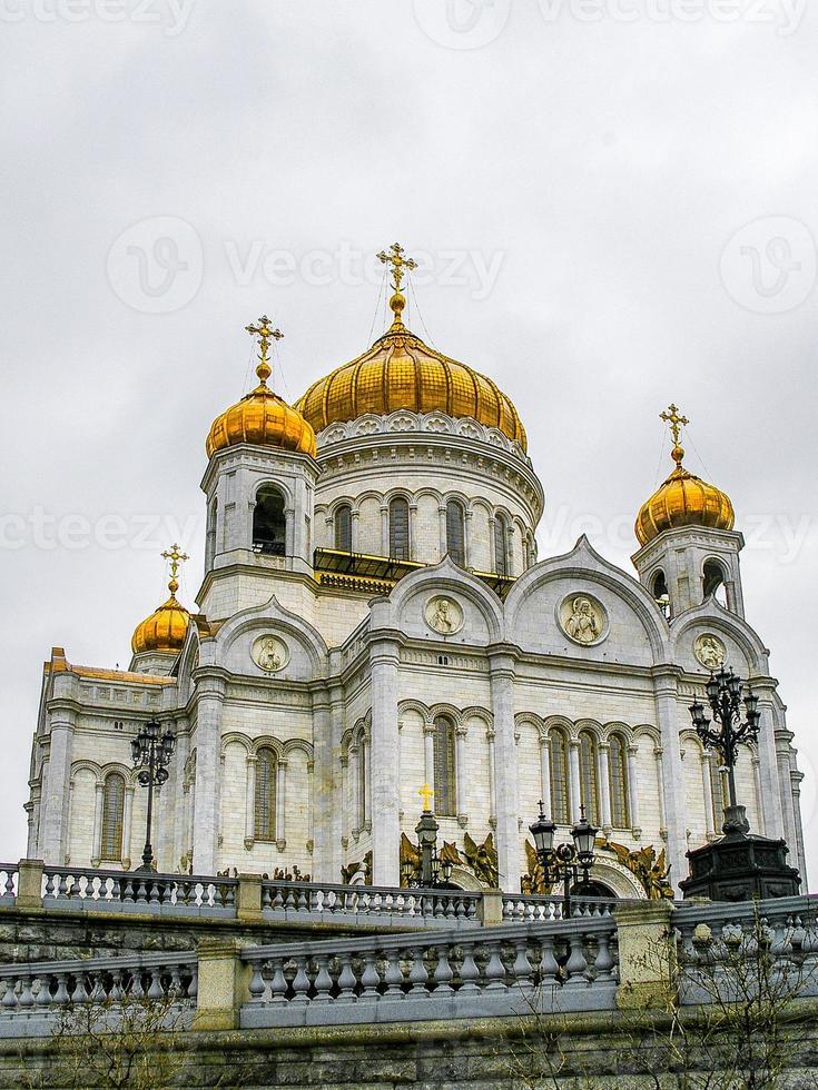 katedralen av Kristus frälsaren i Moskva, Ryssland foto