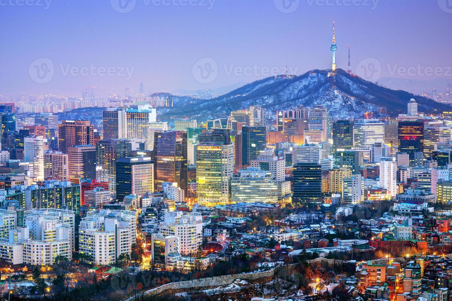 stad i Seoul Korea foto