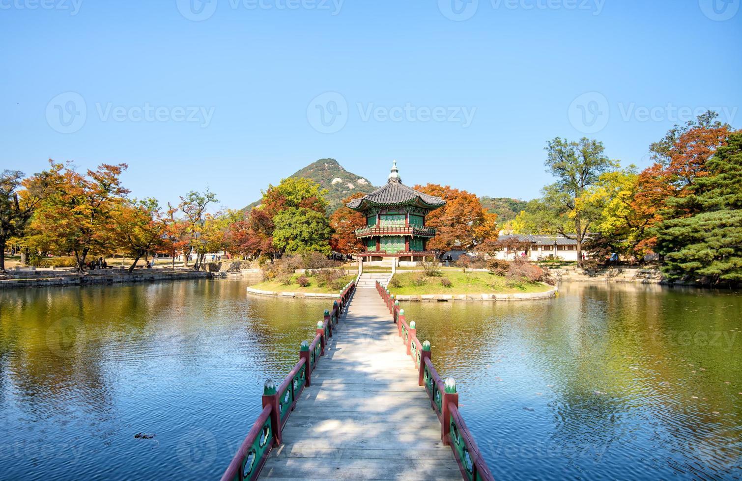 gyeongbokgung palats i Seoul, Korea foto