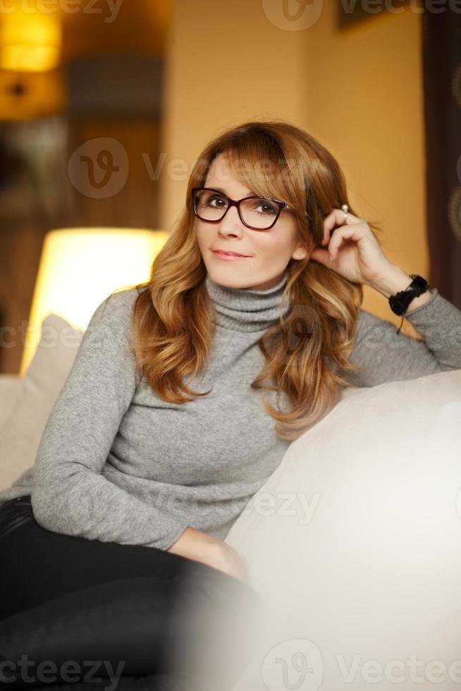vacker mogen kvinna foto