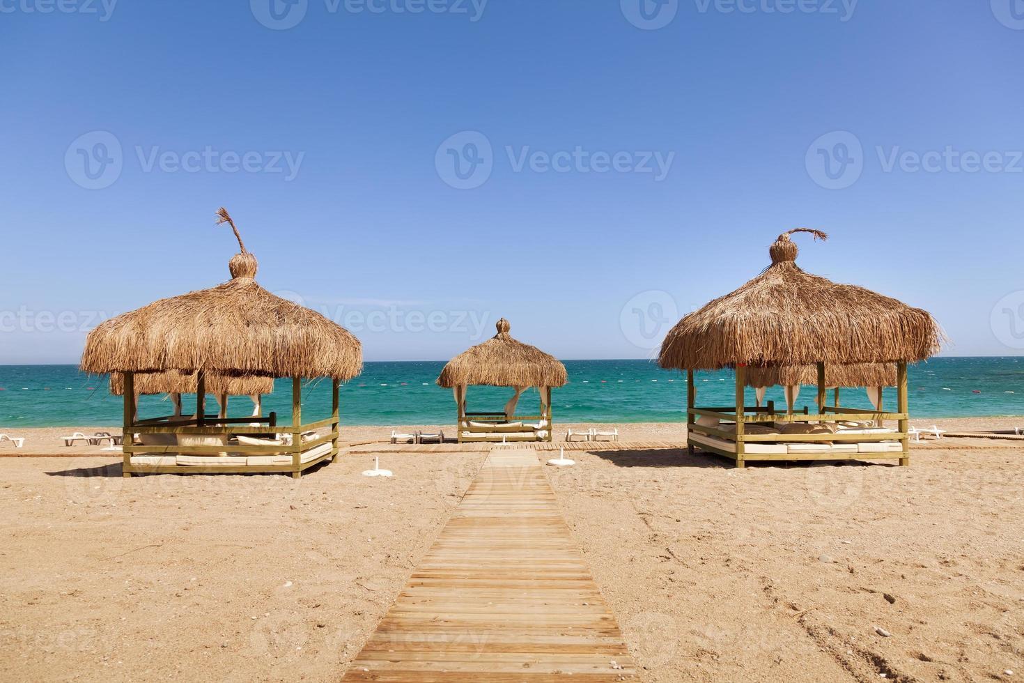 strand lounge på stranden foto