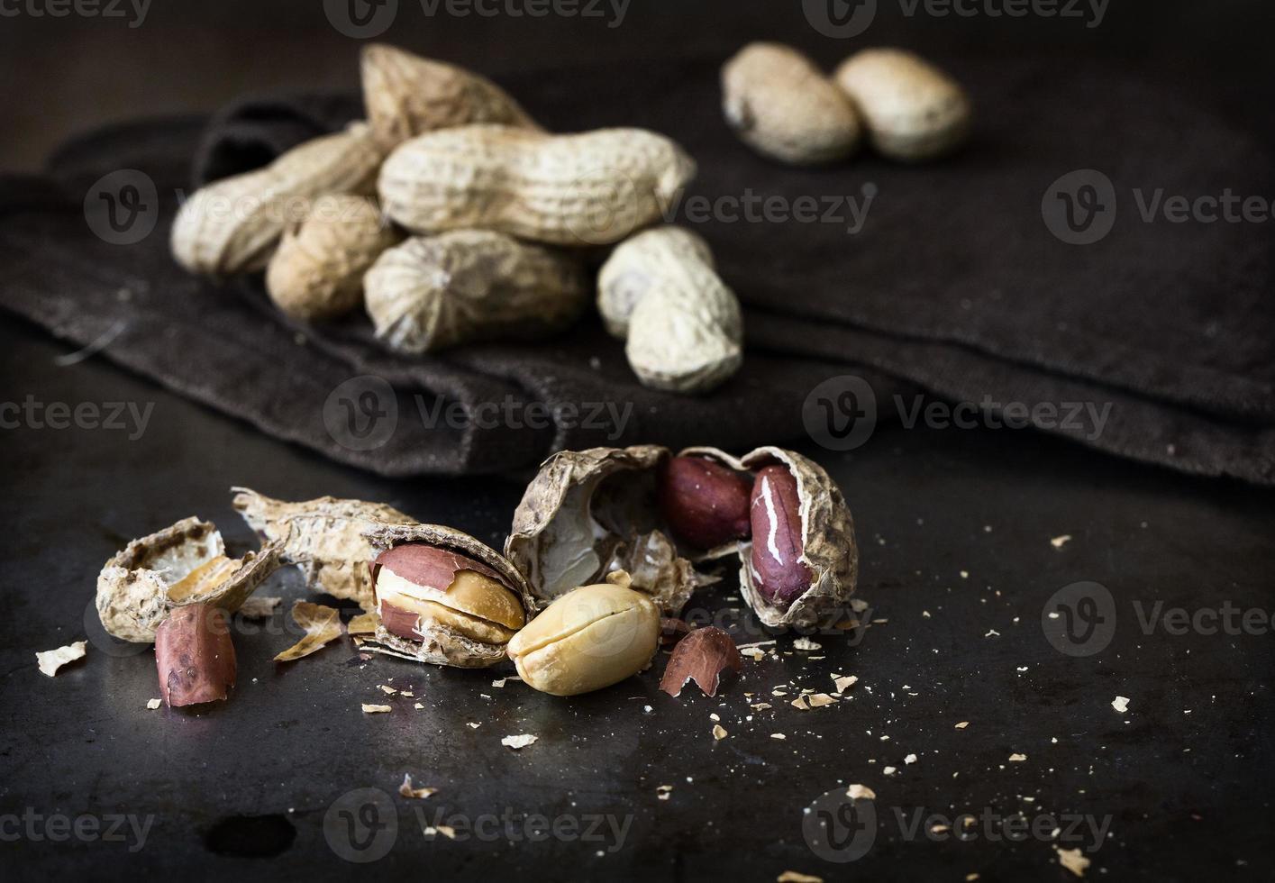 jordnötter. närbild. foto