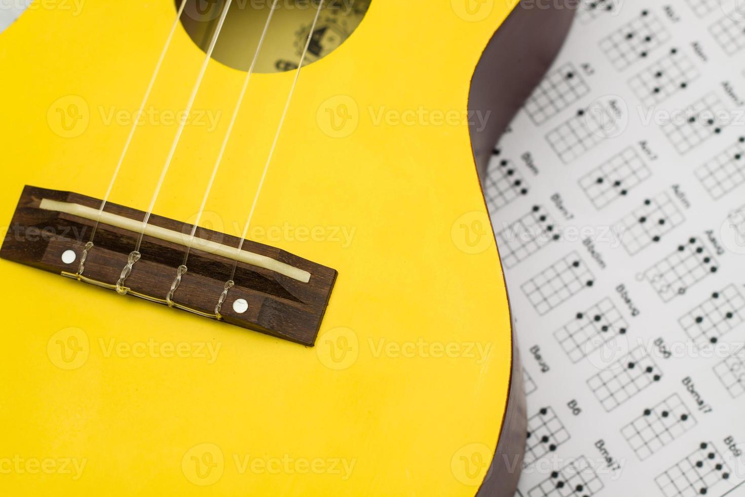 närbild ukulele foto