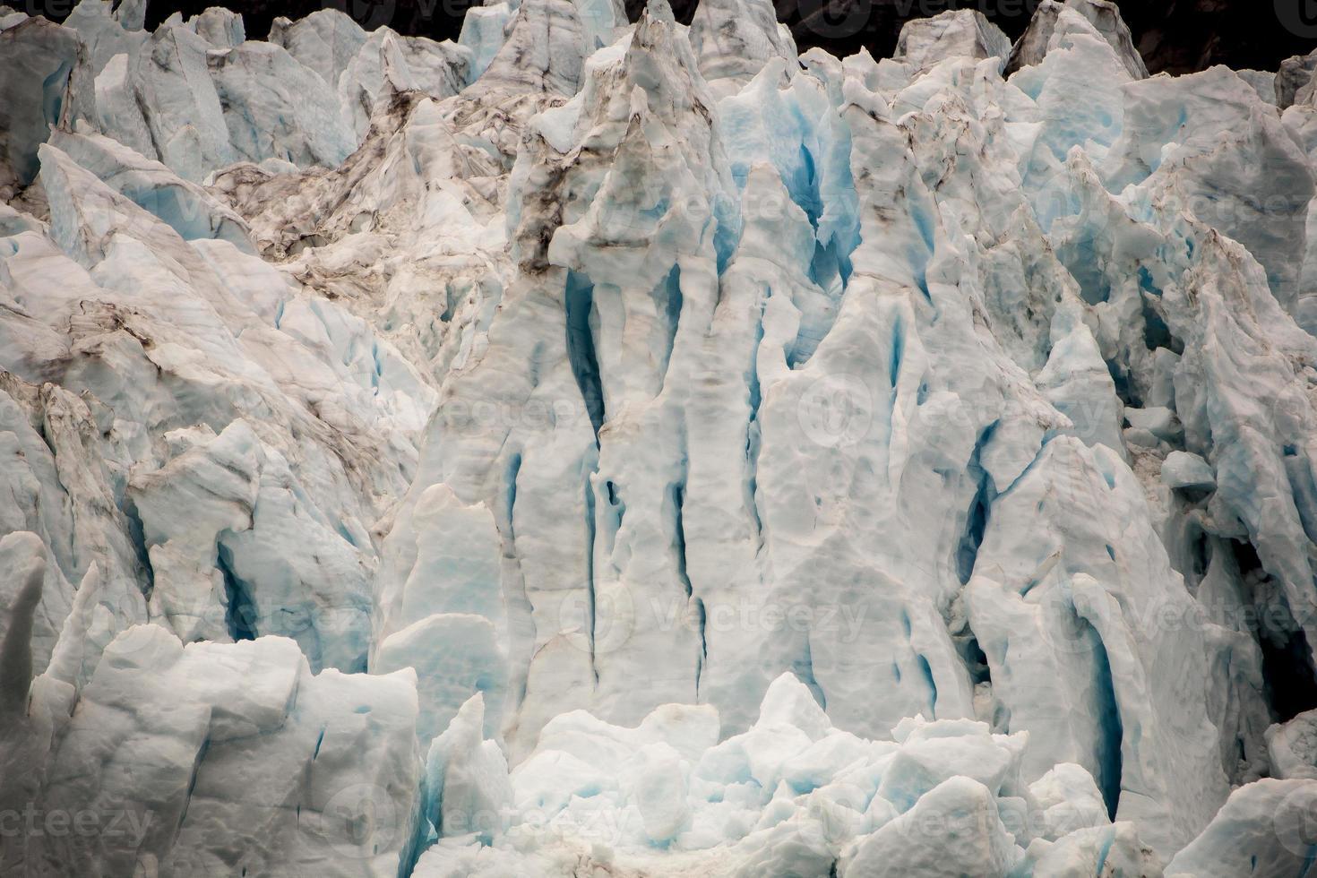 glaciär på nära håll foto
