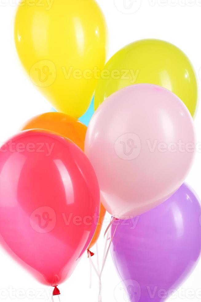 färgglada ballonger närbild foto