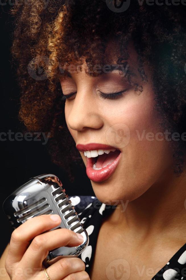 jazzmusiker på nära håll foto