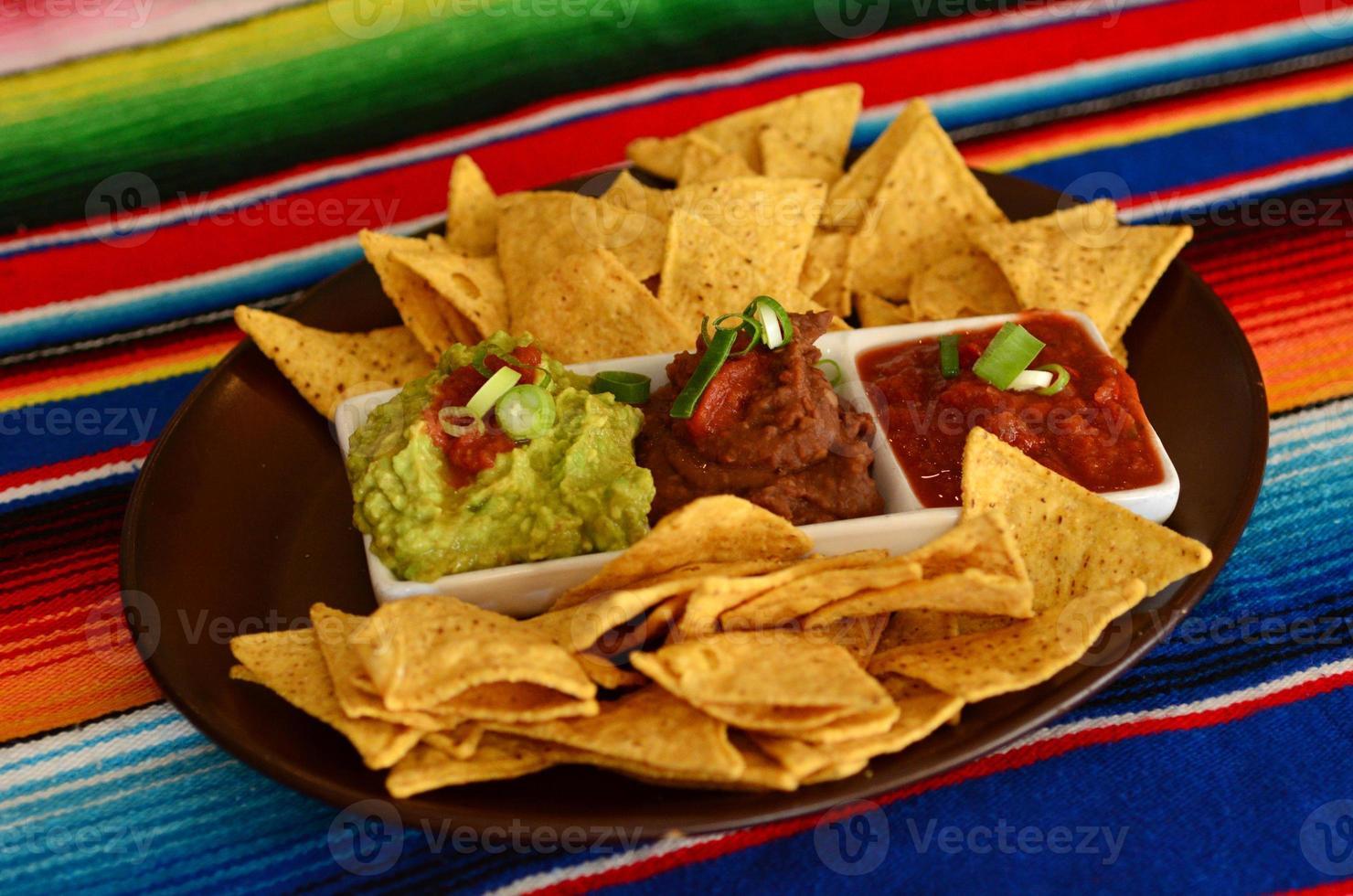 mexikansk mat - nachos foto