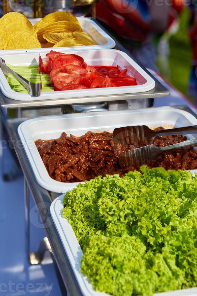 lagerbild av traditionell mexikansk mat foto