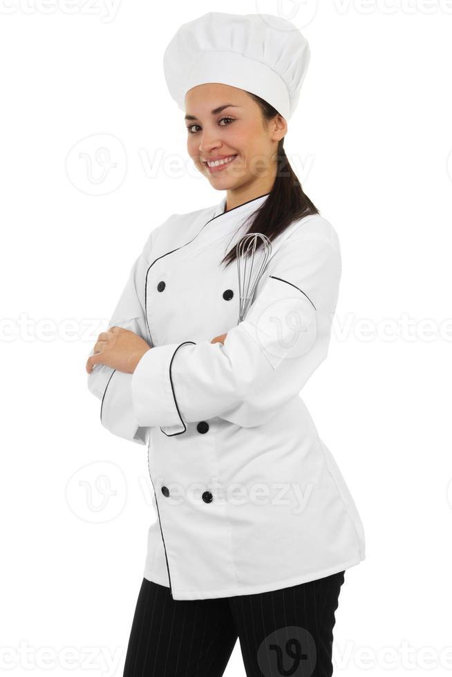 kvinnlig kock foto