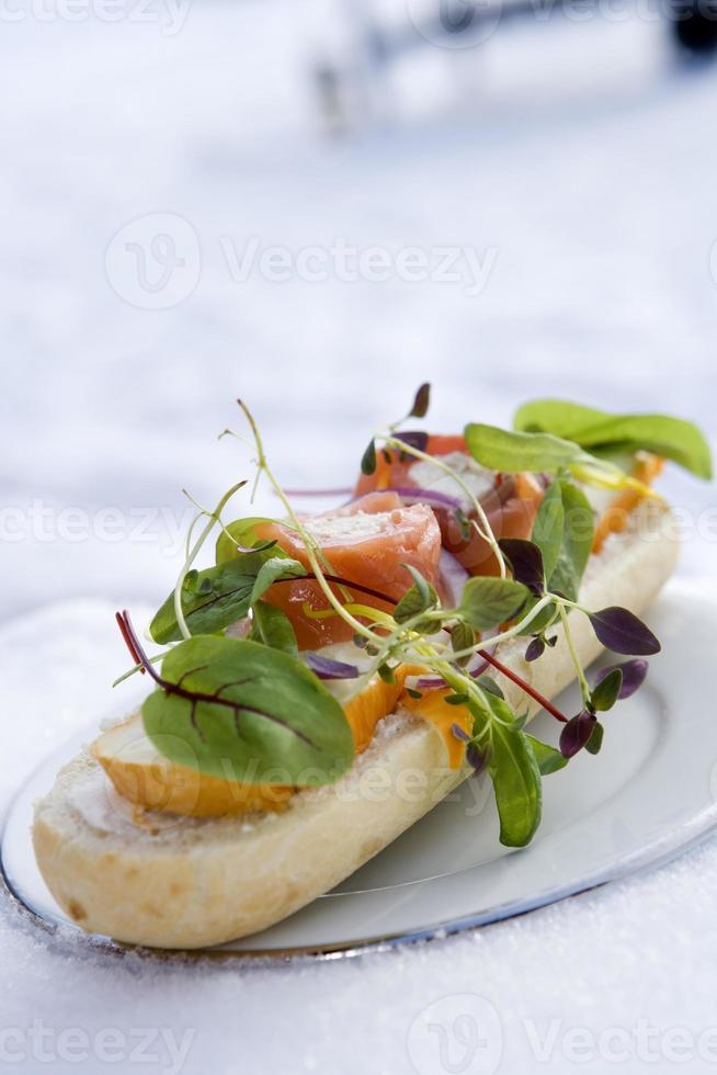 fotlång smörgås foto