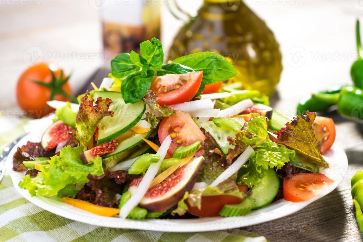 hälsosam färsk sallad foto