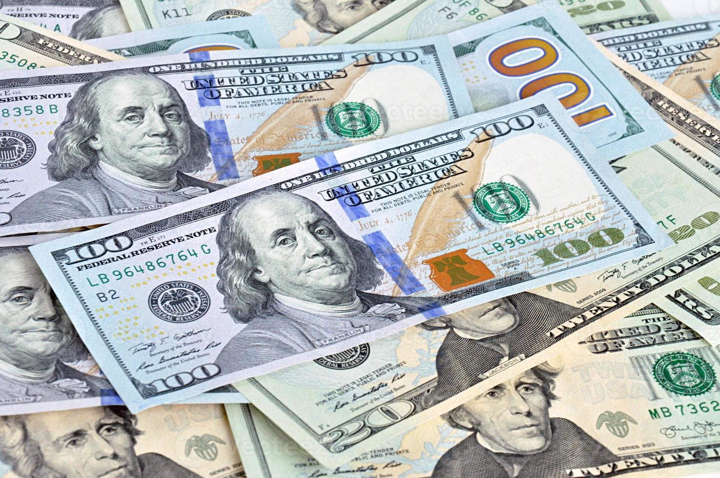 pengar - US-räkningar (USA) foto