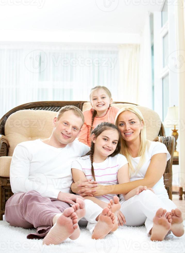 familjen hemma foto