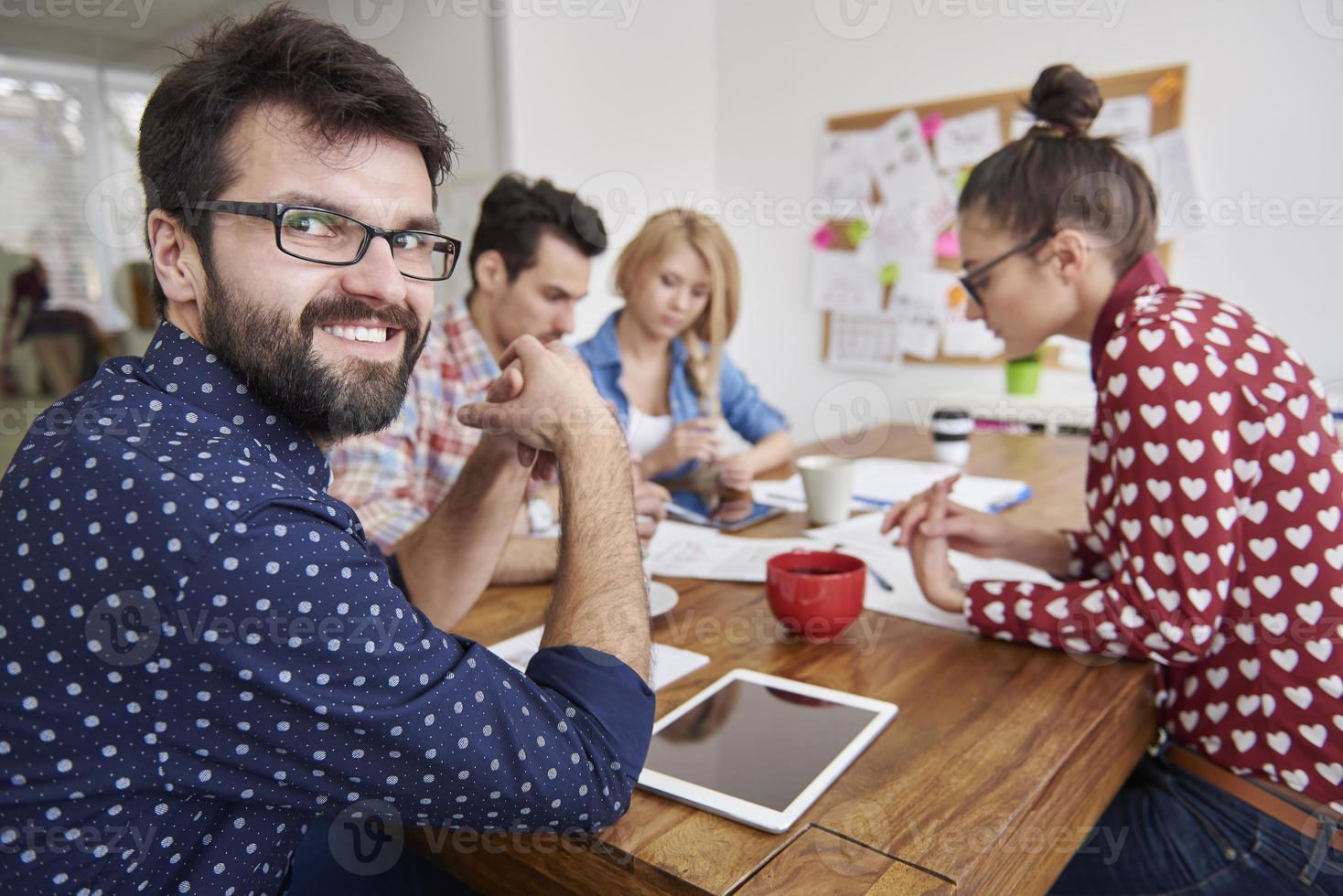 ekonomiskt affärsmöte och planering med mitt team foto