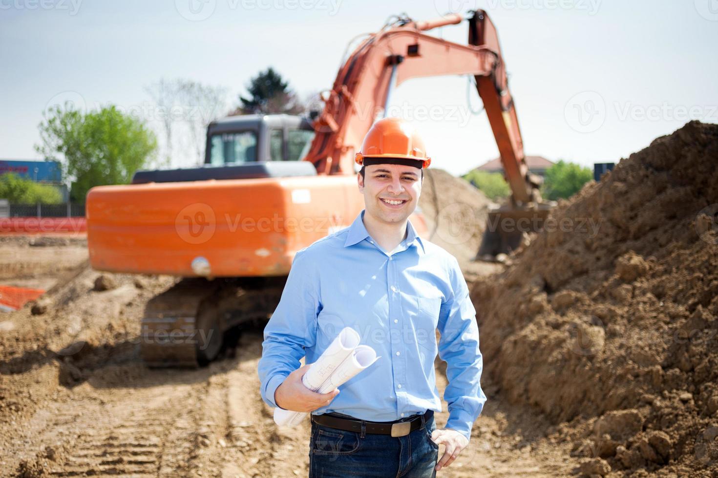 arkitekt på en byggarbetsplats foto