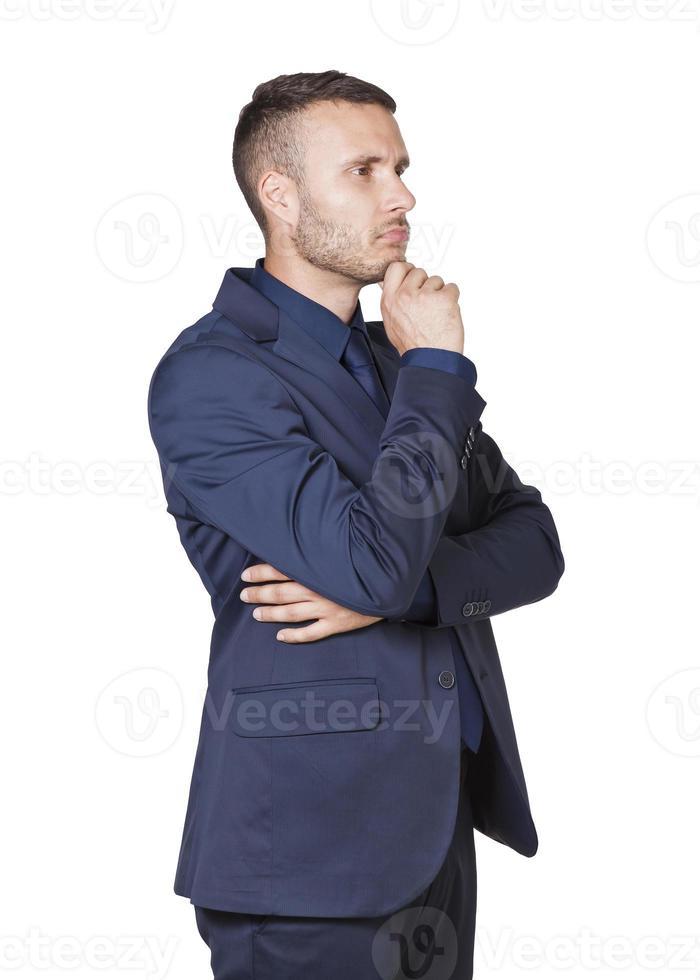 affärsman tänker foto